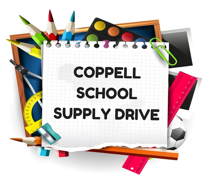 Coppell School Supply Drive Logo